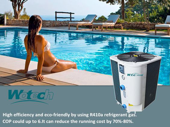 Wotech Vertical air to water heat pump for swimming pool